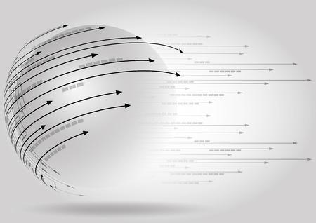 comunicar: ciencia de alta tecnología futurista internet conocimiento de los negocios Vectores
