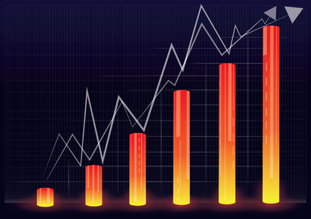 listing: vector illustration of financial graph chart,vector illustration