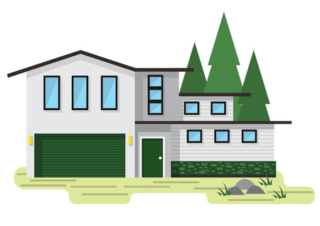 graphic: illustration of info graphic house concept in isometric graphic