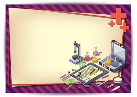 deportes caricatura: Plantilla m�dica creativo folleto Folleto vectorial papel Plantilla de dise�o de infograf�as y pancartas concepto