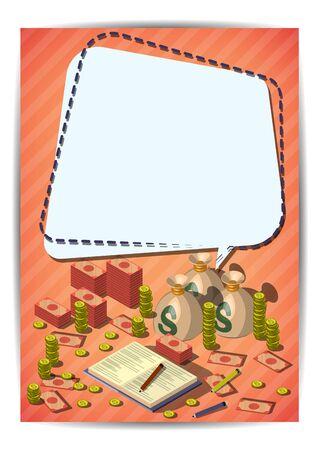 Creative-Geld-Schablone Flyer Broschüre Vector Papier Design ...