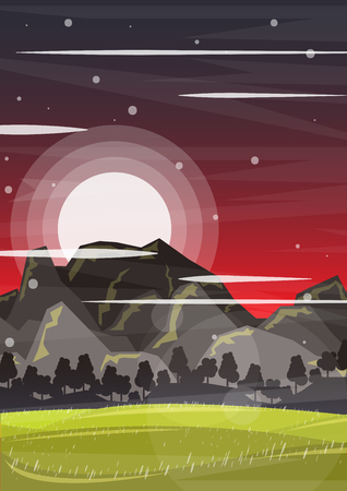 mountain road: Creative landscape Template Flyer Brochure Vector Paper Design Template for infographics and banners concept Illustration