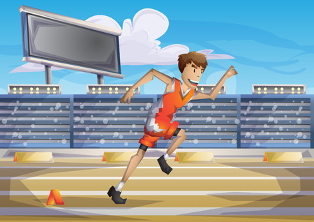 Cartoon vector running  sport with separated layers for game and animation, game design asset