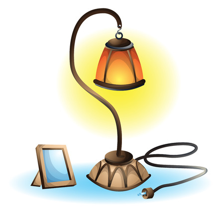separated: cartoon vector illustration interior lamp object with separated layers Illustration