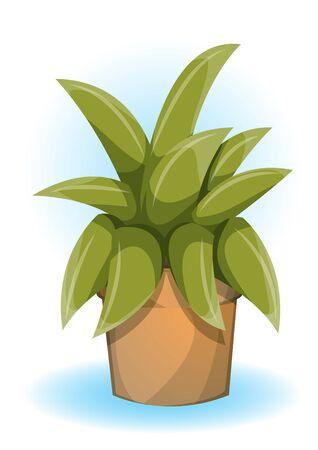flowerpot: cartoon vector illustration cartoon flowerpot objects with separated layers Illustration