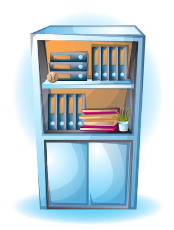 office cabinet: cartoon vector illustration office Cabinet object with separated layers Illustration