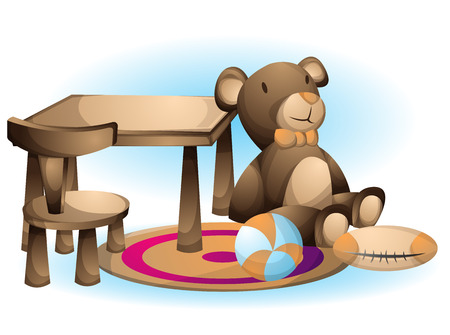 baby playing toy: cartoon vector illustration interior kid toys object with separated layers Illustration