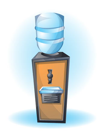 cartoon vector illustration dispenser office object with separated layers