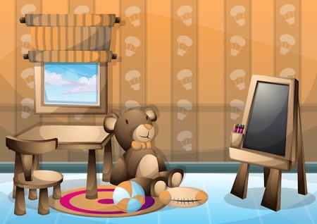 Ilustración vectorial de dibujos animados el sitio del niño interior con capas separadas en gráficos 2D Foto de archivo - 63463943