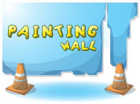 Dessin Animé Illustration Mur De Peinture Intérieure Avec Des Couches  Séparées Dans Graphique 2d