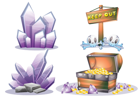 cartoon vector mine game object with separated layers for game and animation game design asset in 2d graphic
