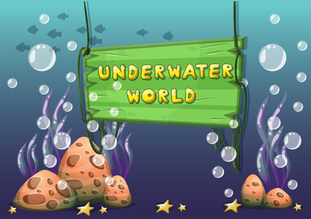sea weeds: cartoon vector underwater objects with separated layers for game art and animation game design asset in 2d graphic