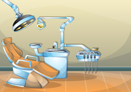 operation room: cartoon illustration interior surgery operation room with separated layers in 2d graphic Illustration