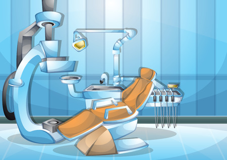 cartoon illustration interior surgery operation room with separated layers in 2d graphic Illustration