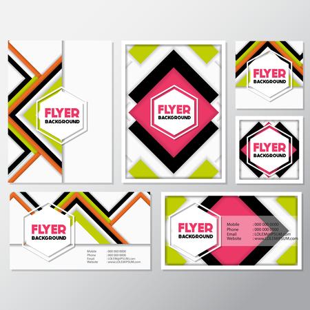 fresh fashion background flyer style background Design Template,Vector Illustration