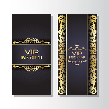 Gold background flyer style Design Template,Vector Illustration
