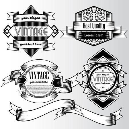 Vintage background flyer style Design Template,Vector Illustration