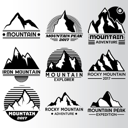mountain lable Design Template,Vector Illustration