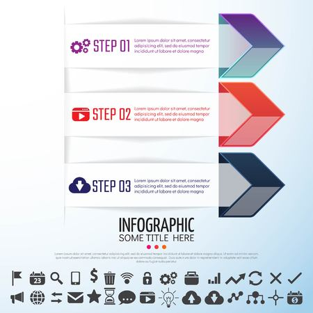 numbers background: Arrow Infographics Design Template,Vector Illustration
