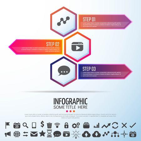 infochart: Arrow Infographics Design Template,Vector Illustration