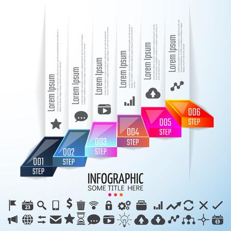 report icon: Infographics Design Template,Vector Illustration
