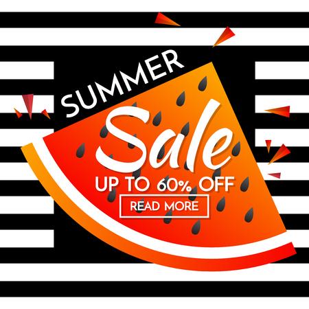 sun cream: summer sale template banner Vector background for banner, poster, flyer