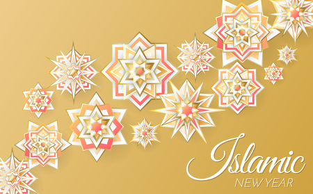 islamic background template Vector for banner, poster, flyer