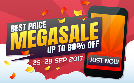 Phone Sale Vector background for banner, poster, flyer