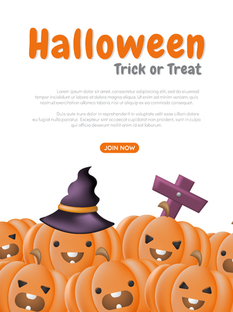 Halloween Background Vector background for banner, 