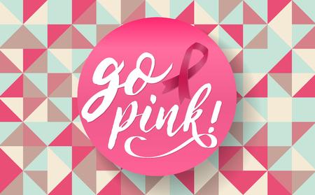 Breast cancer awareness vector illustration.