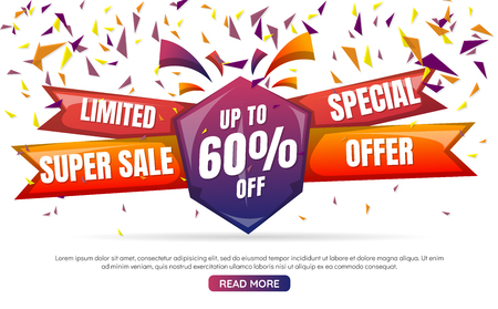 New Year sale Background Vector background for banner, poster, flyer Ilustrace
