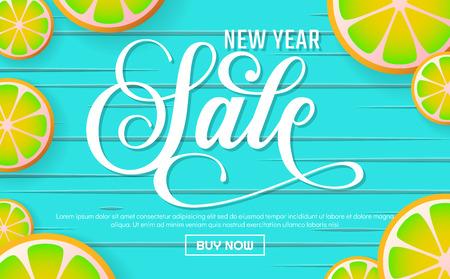 New Year sale Background Vector background for banner, poster, flyer Illustration