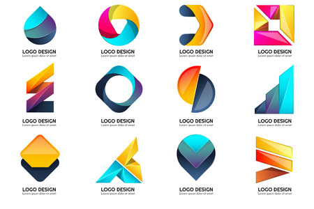 Modern Minimal Vector Logo for banner, poster, flyer