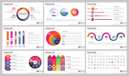 Modern Elements of infographics for presentations templates for banner, poster, flyer 向量圖像