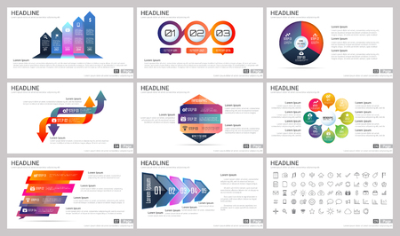 Modern Elements of infographics for presentations templates for banner, poster, flyer Vectores