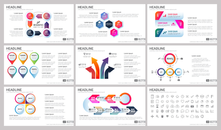 Modern Elements of infographics for presentations templates for banner, poster, flyer Çizim