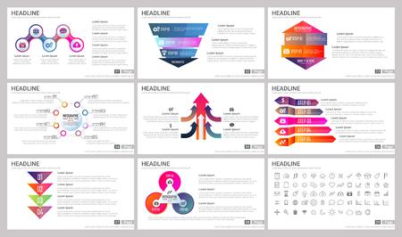 Éléments modernes d'infographie pour les modèles de présentations pour bannière, affiche, flyer