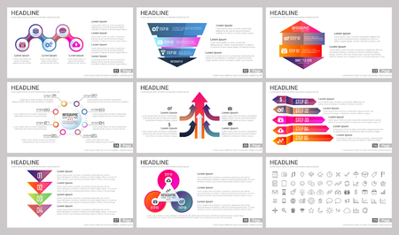 Modern Elements of infographics for presentations templates for banner, poster, flyer Vettoriali