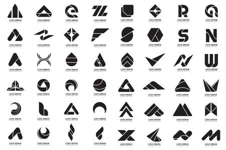 Modernes minimales Vektorlogo für Fahne, Plakat, Flieger
