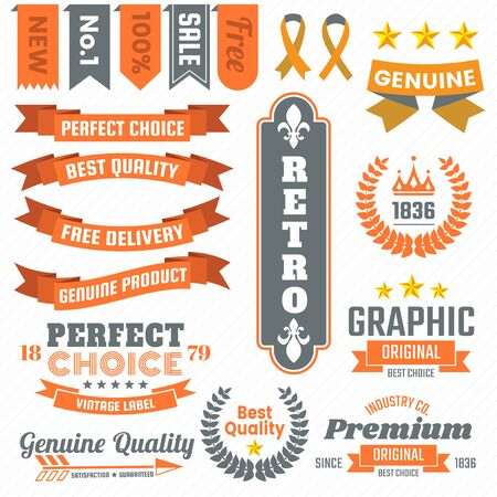 Vintage Retro Vector decorations for banner or poster.