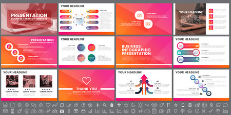 Modern Elements of infographics for presentations templates for banner, poster. Banque d'images - 94747642