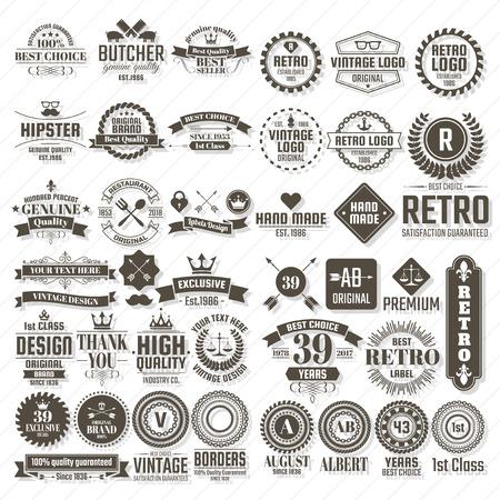 Vintage Retro Vector Logo for banner, poster, flyer 矢量图像