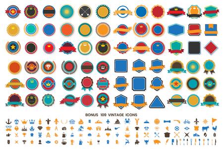 Vintage Retro Vector Logo for banner, poster, flyer Illustration