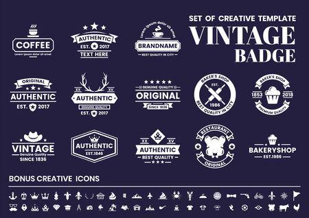 Vecteur rétro vintage pour bannière, affiche, flyer Vecteurs