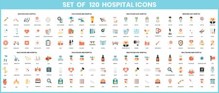 Hospital icons set for business, marketing, management