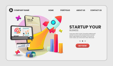 Startup vector concept on mobile application vector. online store smartphone concept suitable for banner application and home page