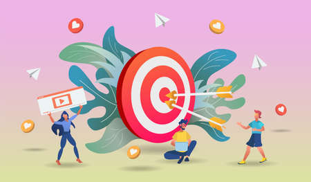 Shopping online concept with character and colorful element. 3d vector illustration,Hero image for website