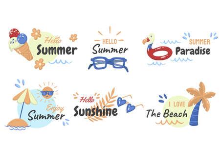 Summer label Vector   for banner, poster, flyer 版權商用圖片 - 157330356