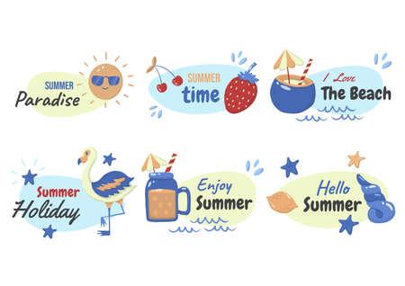 Summer label Vector  for banner, poster, flyer 版權商用圖片 - 157330616
