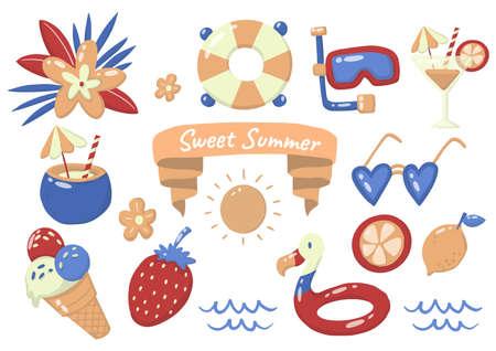Summer label Vector  for banner, poster, flyer 版權商用圖片 - 157330679